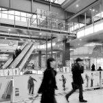 12 - Intervento di restyling della stazione ferroviaria di Milano - Porta Garibaldi, per Centostazioni SpA; con M. T. Genoni - Vista interna (da Stazioni da Vivere. L'esperienza di Centostazioni, Centostazioni SpA, Roma 2008, Marsilio Editori)