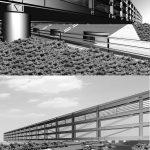 23 - Progetto della sede operativa dell'Acquedotto Pugliese Strada Provinciale a Modugno (BA), per Acquedotto Pugliese SpA; con R. Magagnini e C. Pediconi - Render