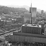 21 - Progetto di torre per uffici a Genova - Sampierdarena, per Centostazioni SpA; con M. Esposito - Fotoinserimento