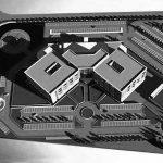 27 - Progetto architettonico, strutturale ed impiantistico dell'Ospedale del comprensorio albenghese, Albenga (SA); in collaborazione - Vista del plastico