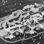 3 - Progetto di ospedale psichiatrico a Ascoli Piceno; con R. Magagnini. Concorso nazionale - Vista zenitale del plastico