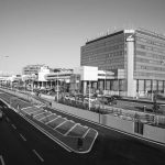 """3 - Ampliamento e ristrutturazione dell'Aeroporto """"Leonardo Da Vinci"""", Fiumicino (RM), per ADR SpA; con Studio Valle e in collaborazione con ATI Bonifica e SPEA - Vista della torre per uffici ENAC e CNA"""