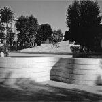 6 - Riqualificazione del Giardino di piazza Vittorio Emanuele II, Roma, per Comune di Roma; con A. Di Noto e G. Milani - Vista della fontana centrale