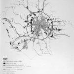 """6  - """"La formazione dell'abusivismo nel territorio romano"""", in USPR Documenti 1, collana a cura dell'Ufficio Speciale del Piano Regolatore, marzo, Roma 1981 - Tavola interna"""