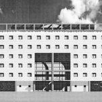 7 - Progetto di un albergo a Guidonia Montecelio (RM) - Prospetto principale