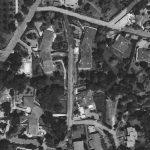 7 - I e II complesso di edifici principali e accessori isolati per complessive 20 unità abitative in zona G3 in via del Buon Ricovero e in via dell'Ospedaletto Giustiniani, Roma - La Giustiniana - Vista aerea