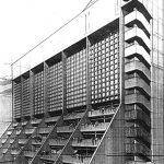 """8 - Progetto del centro polifunzionale """"Torre Centro Occidentale"""" a Barquisimeto (Venezuela) - Vista prospettica"""