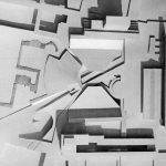 8 - Progetto di riqualificazione di piazza dei Cinquecento e delle Terme di Diocleziano, Roma; con A. Anselmi, G. Milani e D. Parlato - Vista zenitale del plastico (1965)