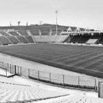 12 - Città dello Sport ad Ancona, progetto degli impianti sportivi; con ing. F. Braga, R. Magagnini, C. Pediconi, ing. F. Sandroni, P. Trebeschi e T. Valle - Vista dello Stadio