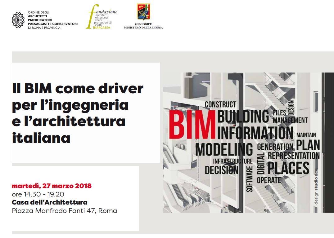 Studi Architettura Roma Lavoro il bim come driver per l'ingegneria e l'architettura