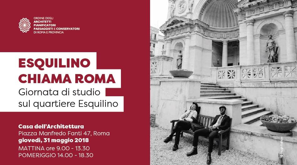 Esquilino chiama roma giornata di studio sul quartiere for Roma ordine architetti