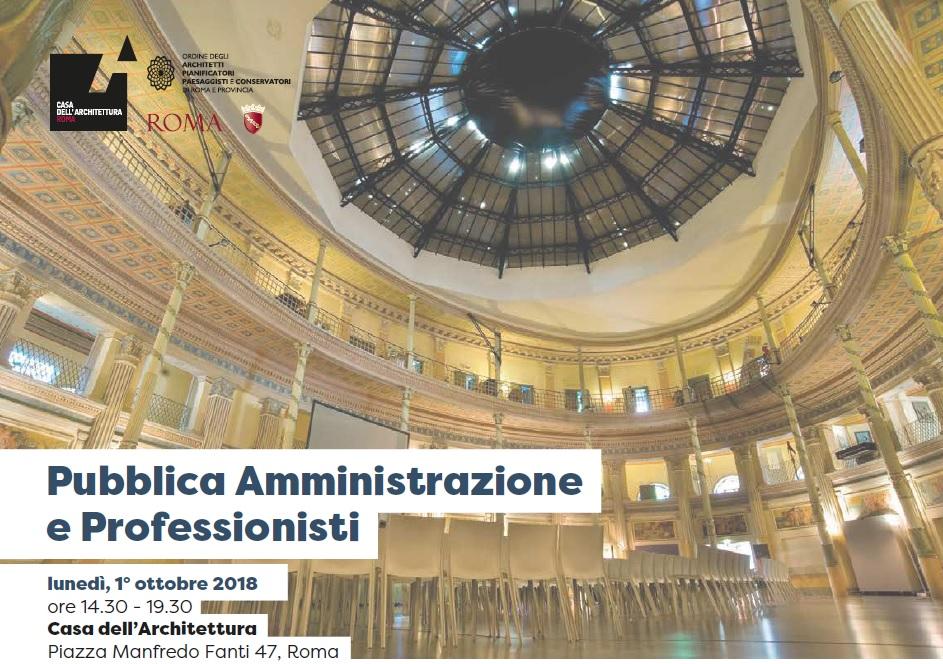 Pubblica amministrazione e professionisti ordine degli for Roma ordine architetti
