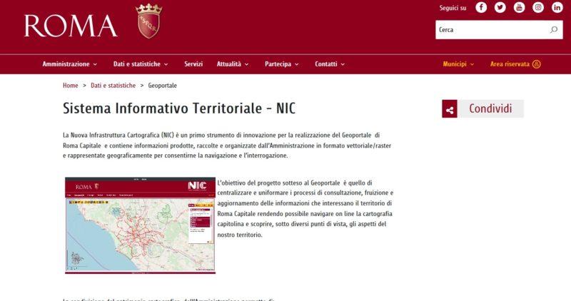 Patrimonio informativo urbanistico / Sistema Informativo Territoriale ( SIT) – NIC ( Nuova infrastruttura Cartografica) 1