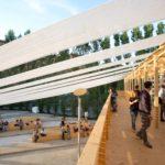 Roma, 26 06 2014 Museo del MAXXI. YAP Young Architects Program 2014: installazione 8 e 1/2 dello Studio Orizzontale vincitrice dell