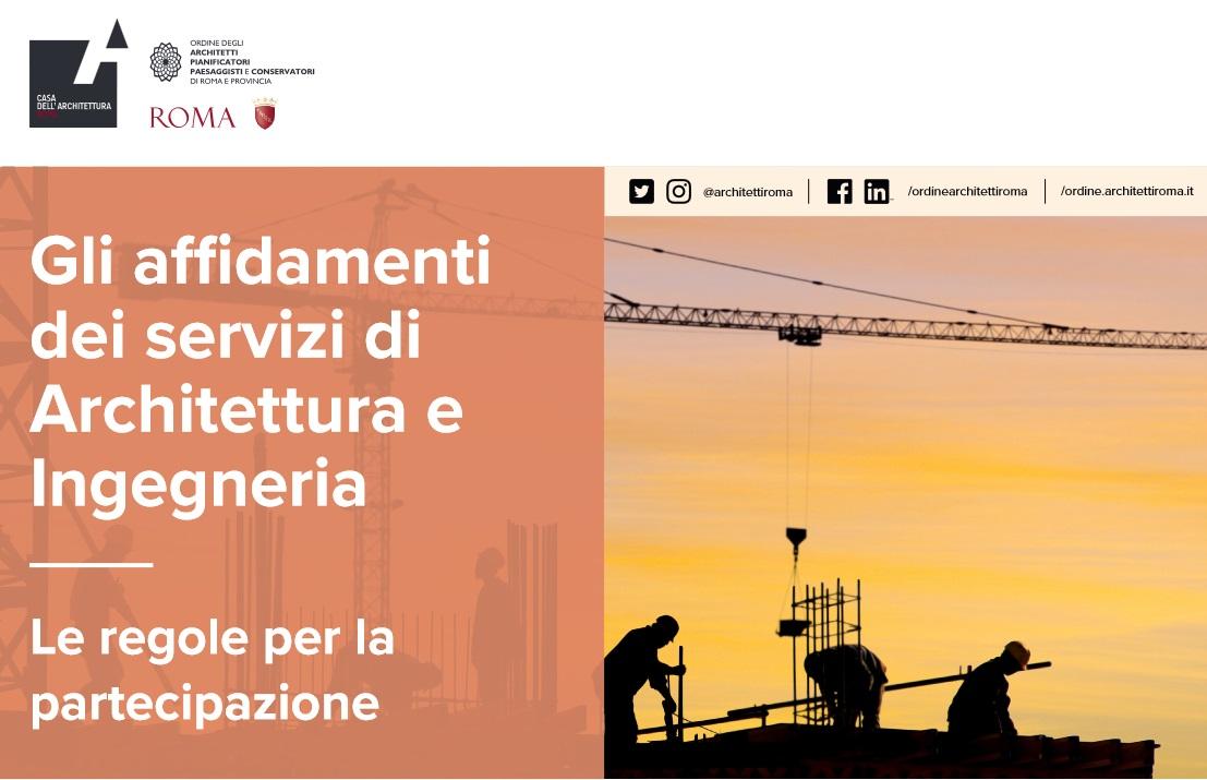 Siti Di Architetti Italiani gli affidamenti dei servizi di architettura e ingegneria. le